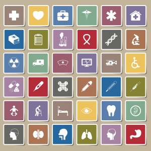medical icons Sticker set